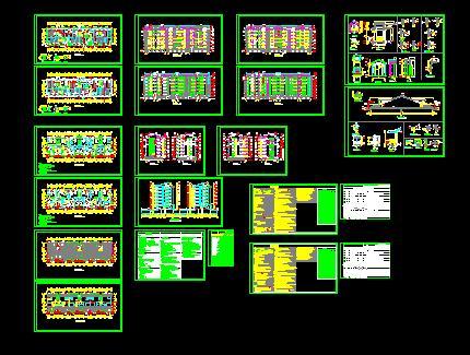 小区多层住宅设计(cad图纸下载)-图1