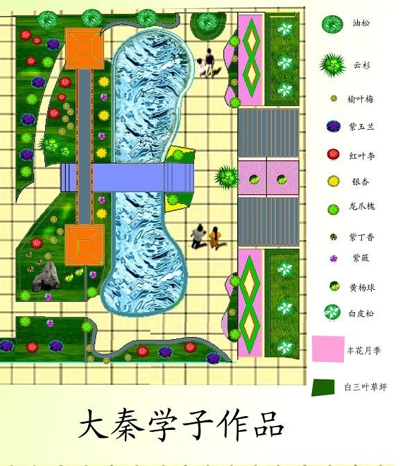 别墅绿化平面图_cad图纸下载-土木在线