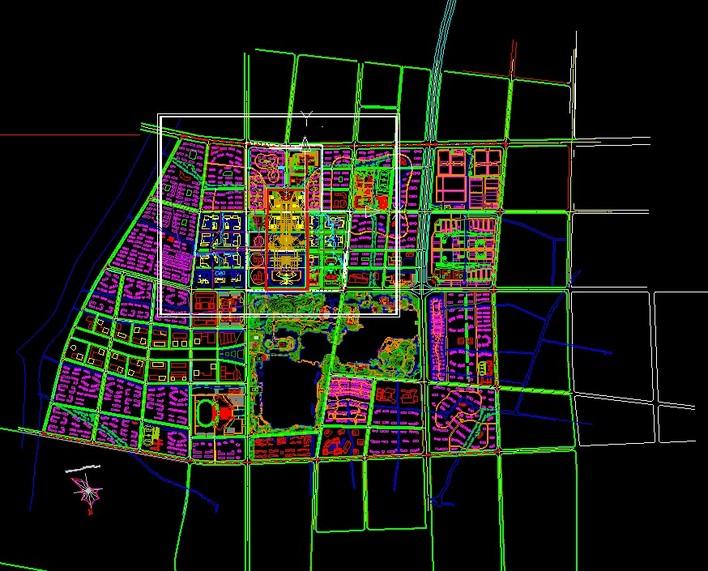 江苏某城市新行政中心城市设计