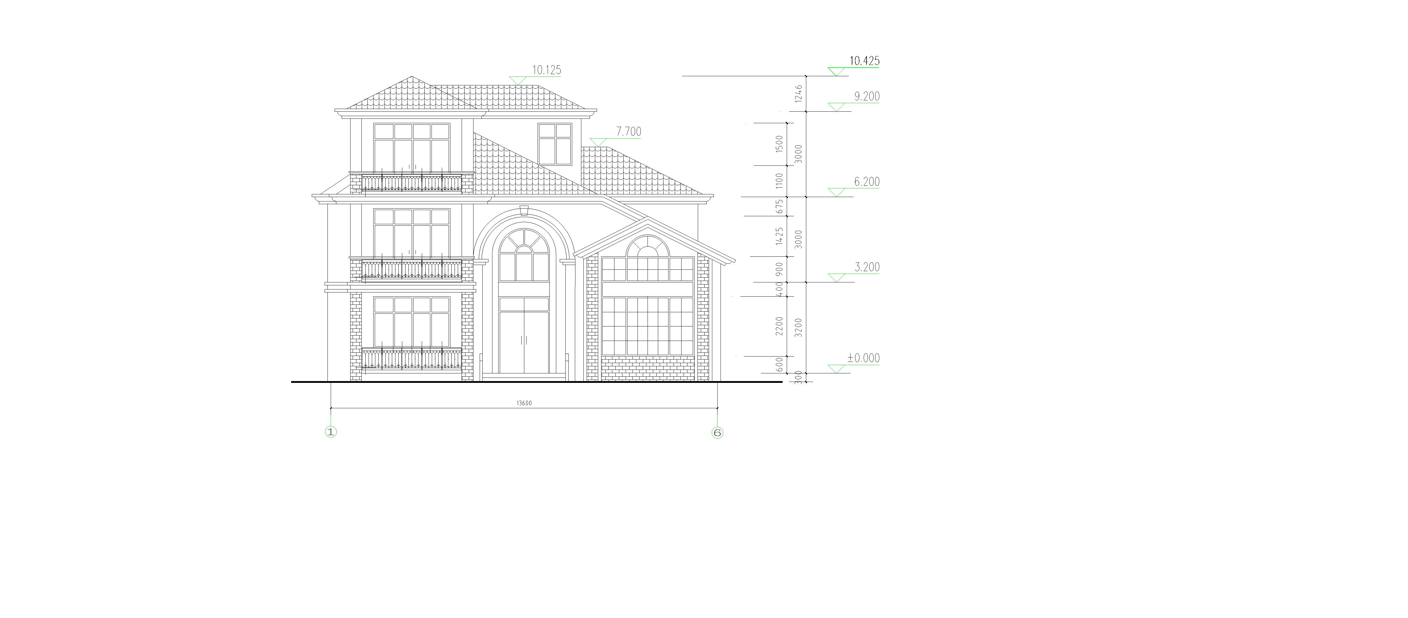 三间一层平房设计图