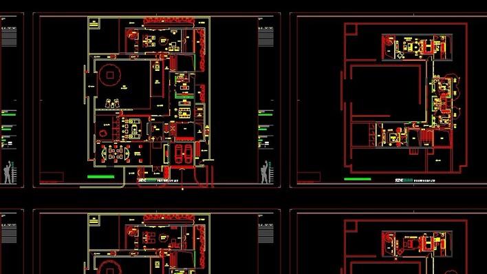 图纸 建筑图纸 别墅图纸 别墅设计图 梁志天—上海九间堂c3型别墅施工