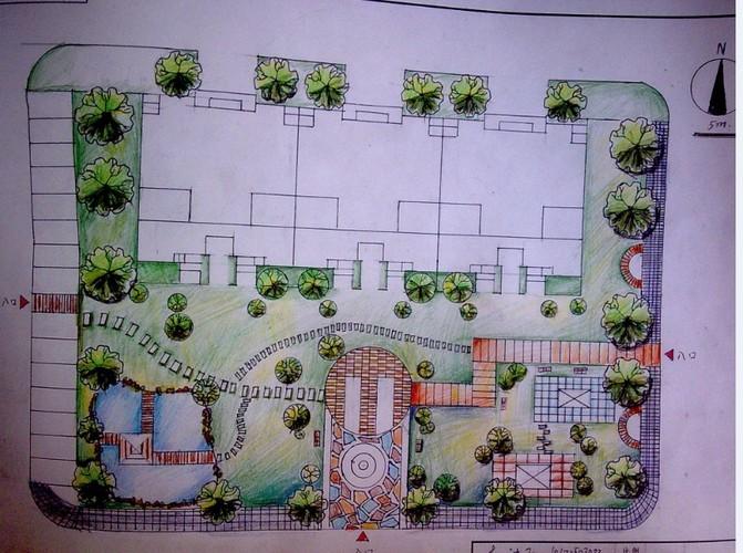 别墅景观庭院设计  所属分类:别墅设计方案 别墅图纸 建筑图纸  别墅