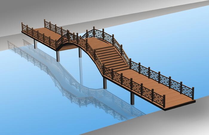 一套完整的防腐木拱桥施工图