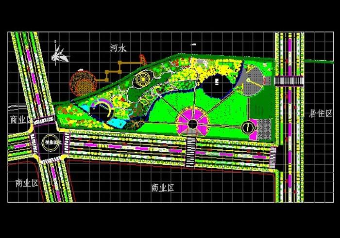 图纸 园林设计图  景观规划设计  公园及游园景观规划设计图(公园设