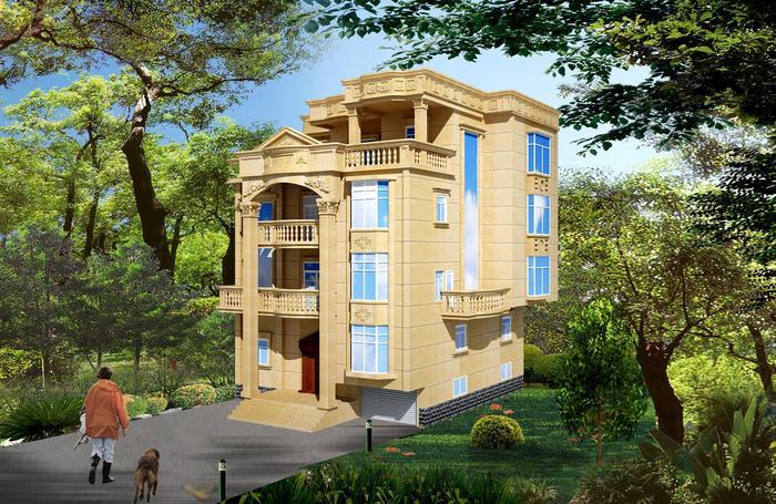 三层半错层楼中楼别墅平面图效果图