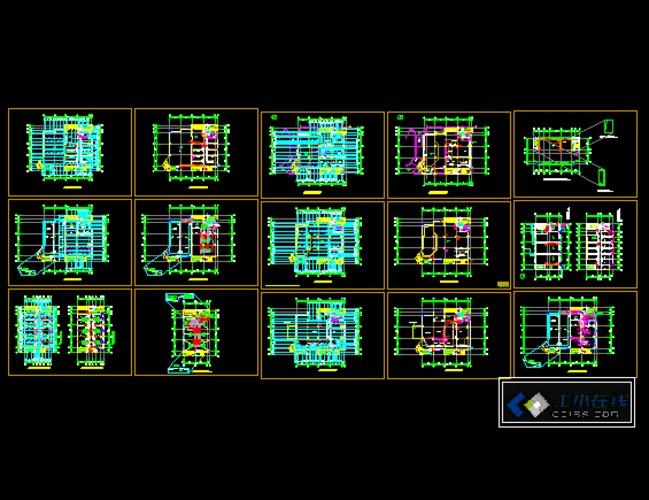 屋面排水线画法_电梯井屋面平面图_平面设计图