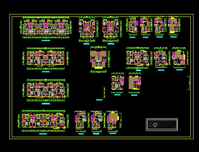 小区户型CAD图