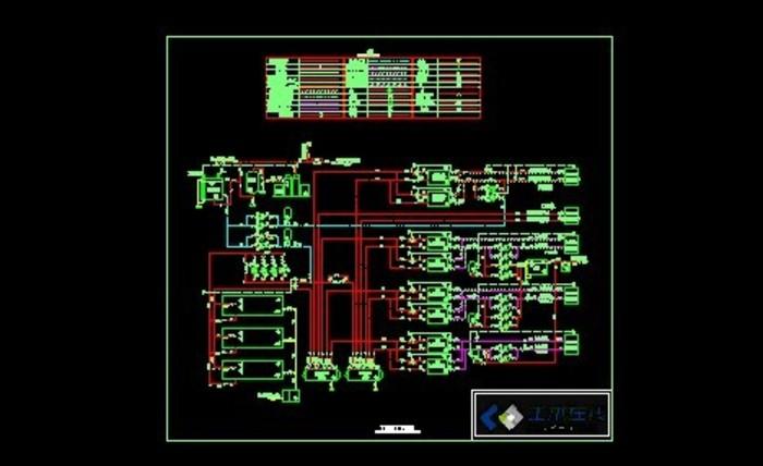 图纸 暖通设计图  供热工程(热力工程图纸)  锅炉房设计施工图(锅炉房