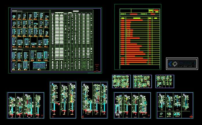 绿城出品-上海玫瑰园s01型别墅建筑施工图