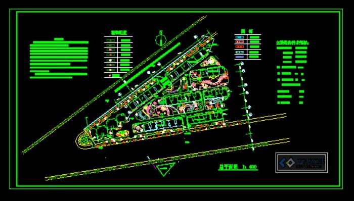 小区植物配置平面图 变压器保护配置图