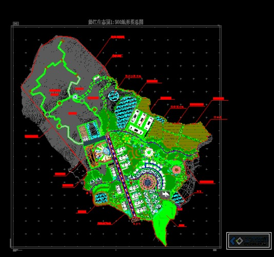 方向产业园区总平面图cad吗什么v方向可以转农村图片