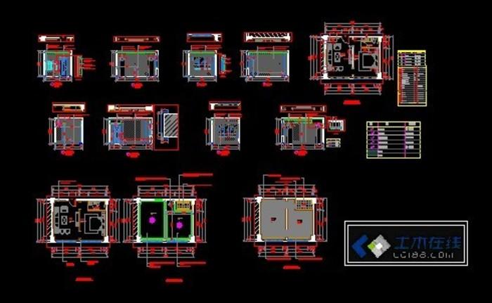 建筑宾馆酒店施工图图纸分类;