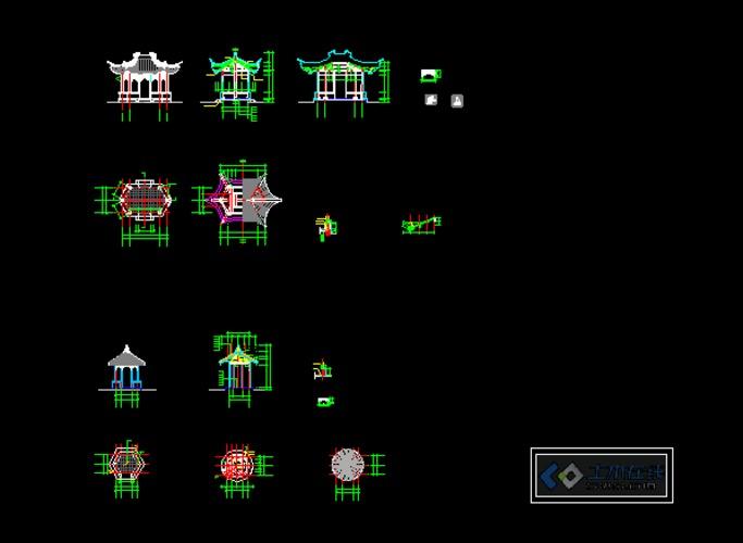 苏州拙政园平面布局图cad  上传时间:2013-05-27 所属分类:廊亭