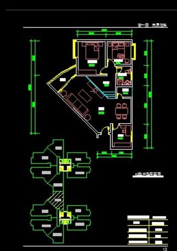 100平方正方形三室一厅一厨一卫平面设计图展示图片