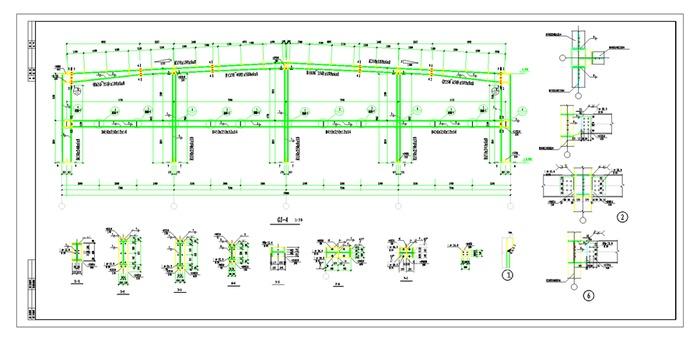 30米跨门钢结构厂房全套图纸