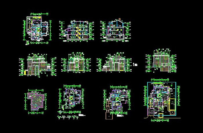 某高档小区经典别墅建筑施工图
