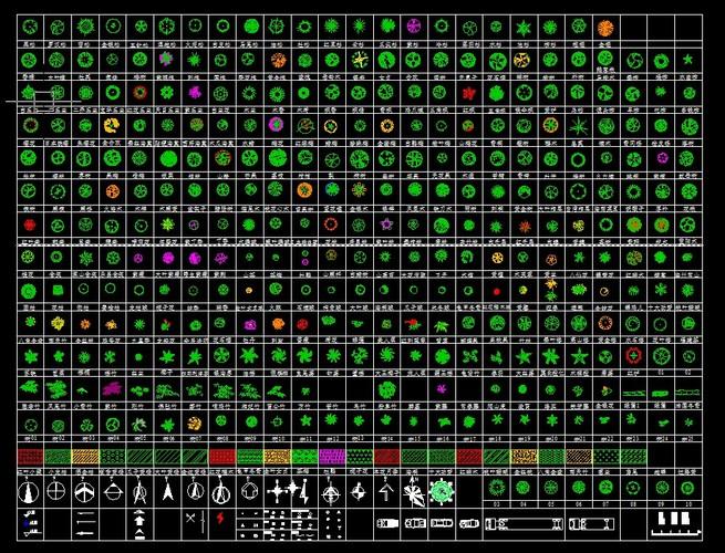 数百种cad平面树图块