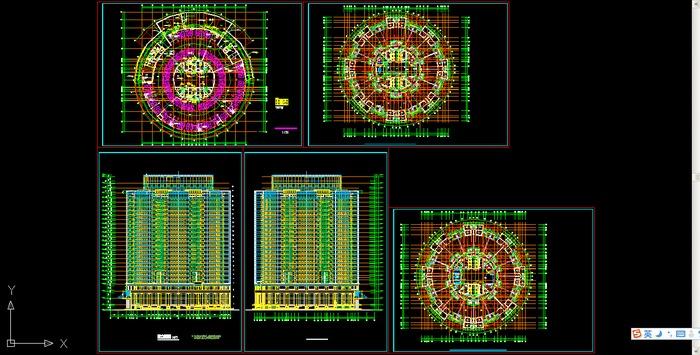 圆形建筑施工图圆