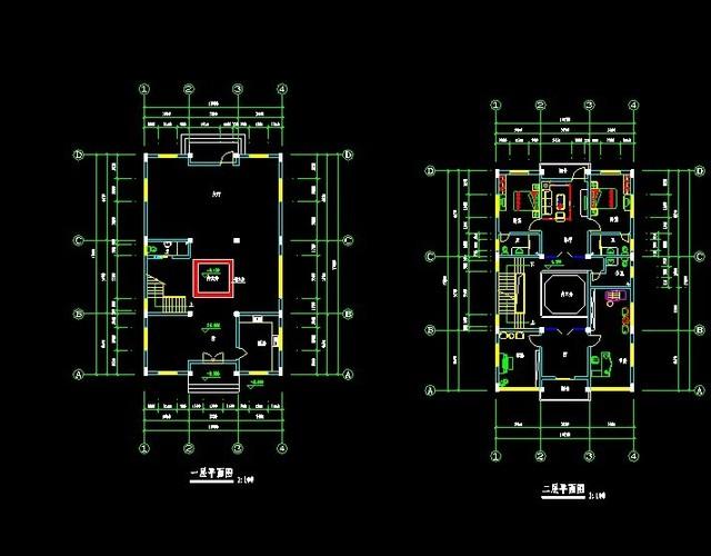 徽派建筑平立面详图