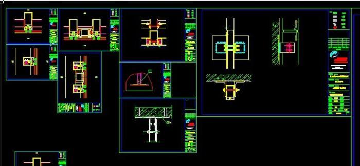 全隐框玻璃幕墙土木图(CAD)_CO节点v土木(原cad犀牛导入网格没有图片