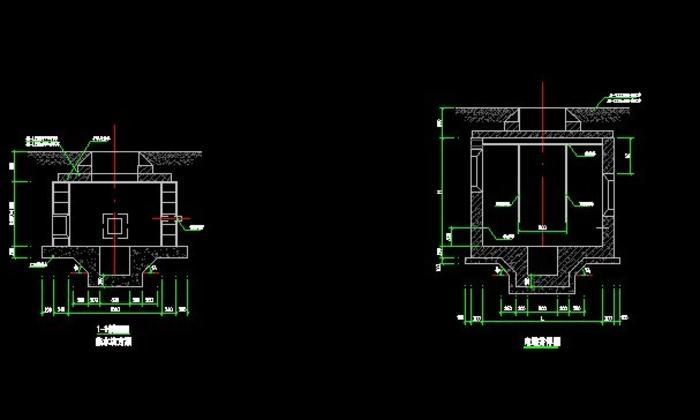 小型直通式电缆井剖面图图片