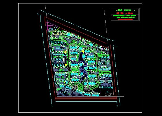 园林设计图 景观规划设计 居住区景观规划设计图 某小区总体规划平面