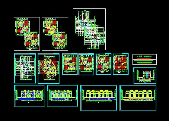 复式高层住宅设计图 高清图片