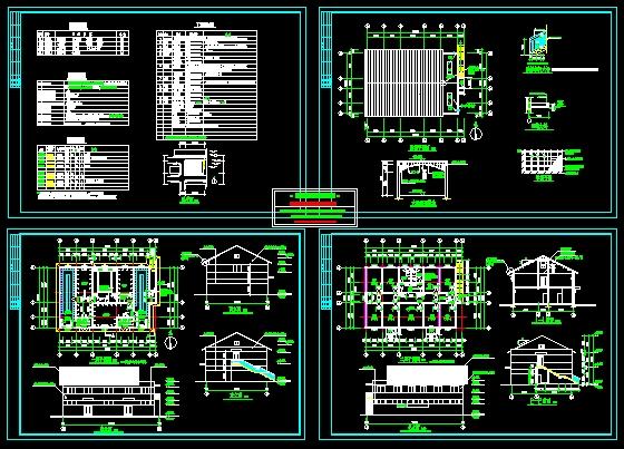 小浴室建筑施工图_cad图纸下载-土木在线