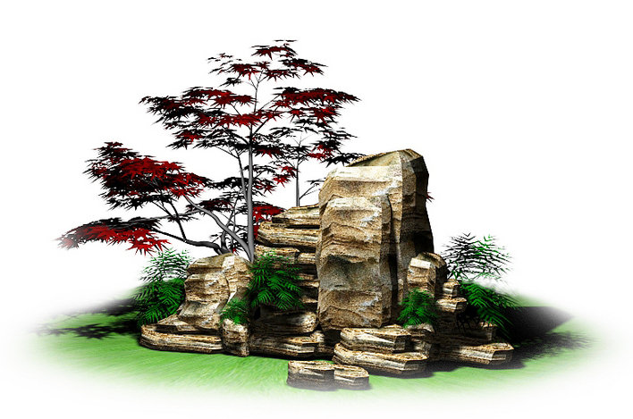 图纸 园林设计图 小品及配套设施 假山置石设计图 假山一组  上传时间