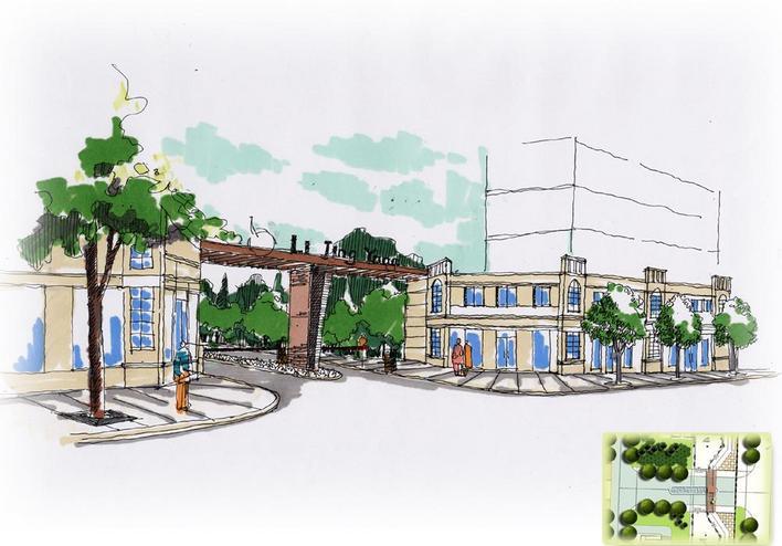 手绘图花坛设计手绘图景观小品手绘图展馆设计手绘图广场设计手绘图