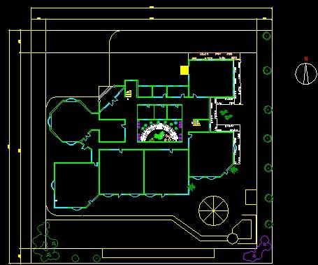 幼儿园设计(天正)总平面,自动生成平立面,效果图和剖面