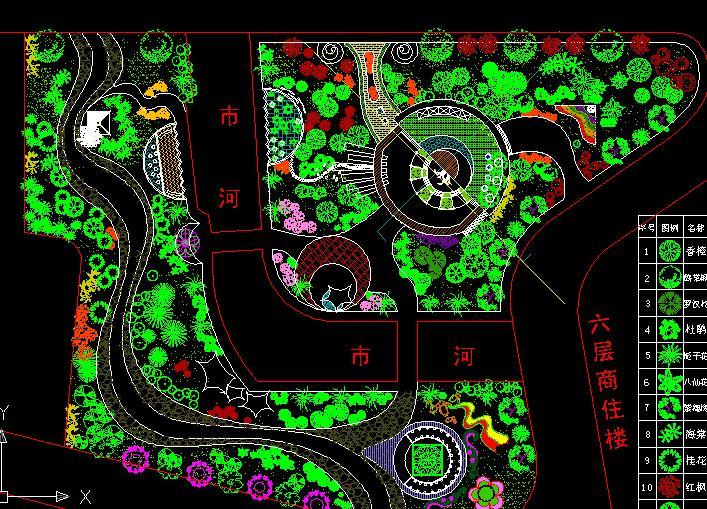 景观植物配置设计手绘平面图