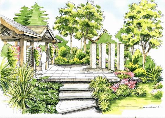 校园广场设计图手绘