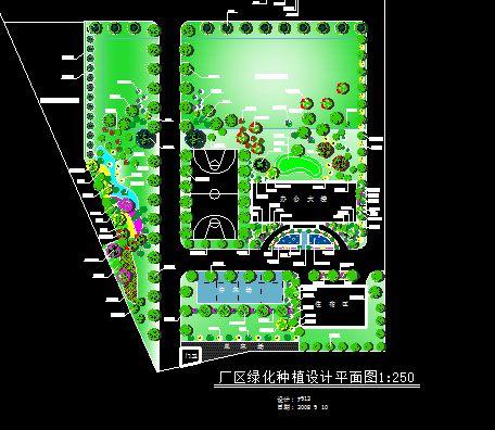 厂区绿化种植设计平面图