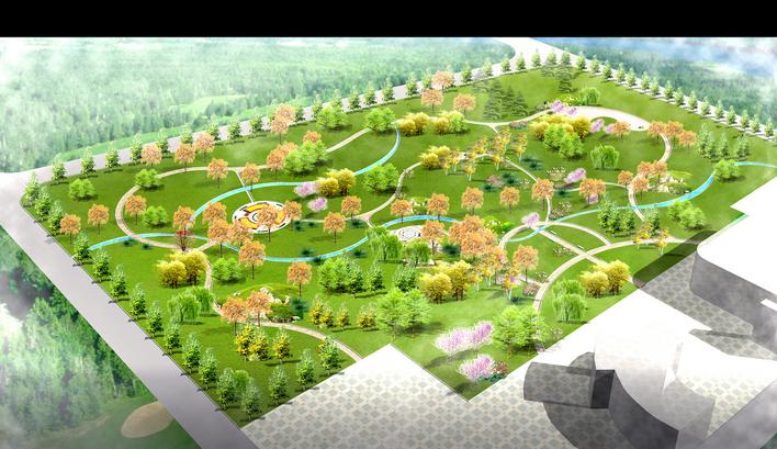 小游园鸟瞰图 小区鸟瞰图 花架鸟瞰图 厂房鸟瞰图 室内鸟瞰图 景观