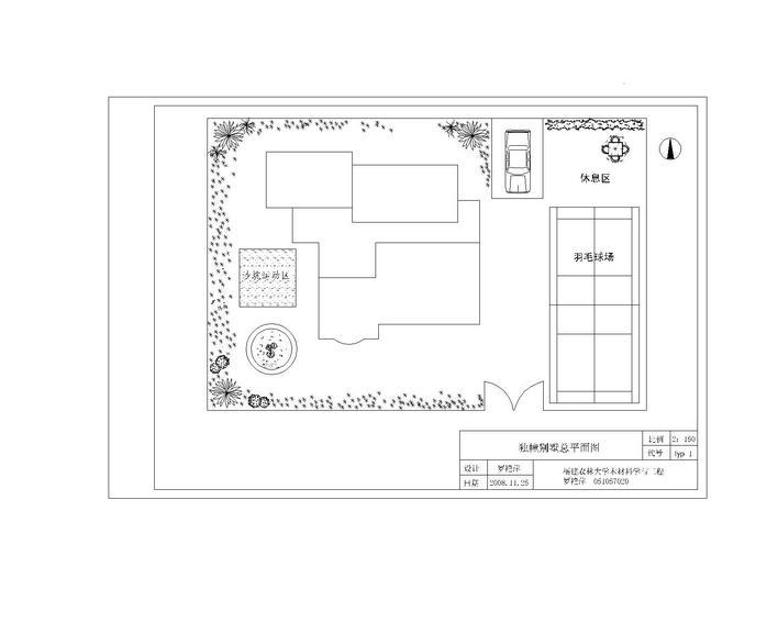 别墅总平面图