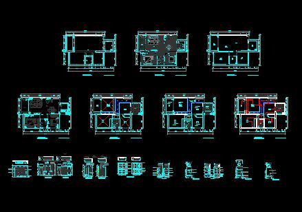 图纸 建筑图纸  一套完整的家装施工图   完整的室内设计图纸.