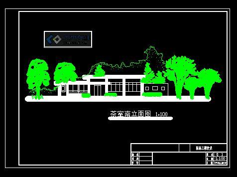 史上最强103个cad电视背景墙立面图 东湖茶室cad 平面图,立面图, 植物