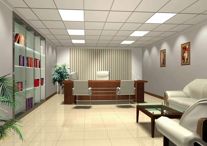 别墅办公楼一(有内部布置效果图+全套施工图) 上海沪办大厦办公室装修