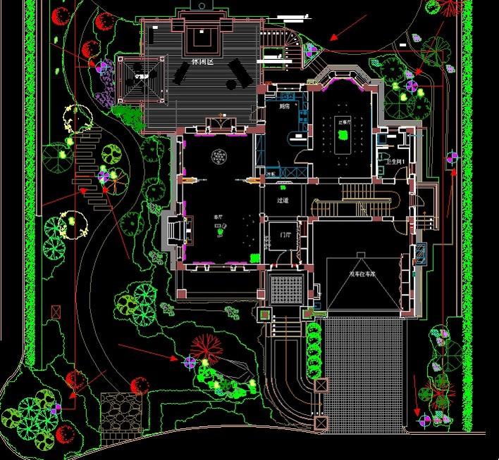 景观路灯平面图