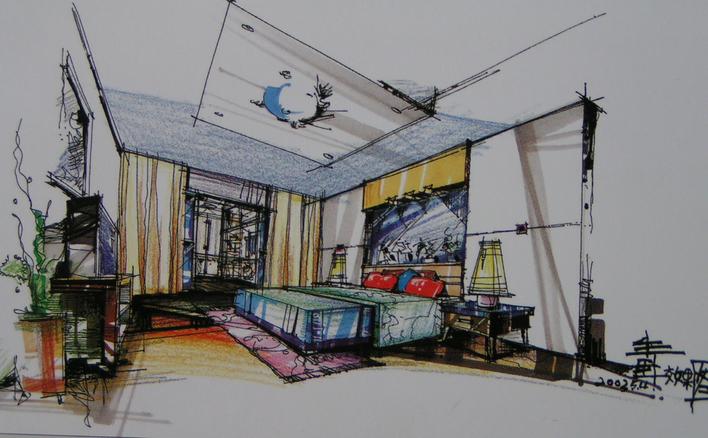 室内手绘立面图 手绘室内快题设计 室内手绘效果图 室内手绘设计图