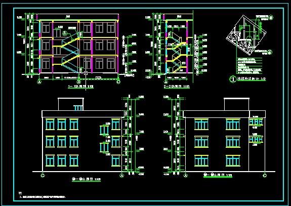 某工厂五层丙类汽车维修车间全套电气施工图 某地八层框架丙类厂房