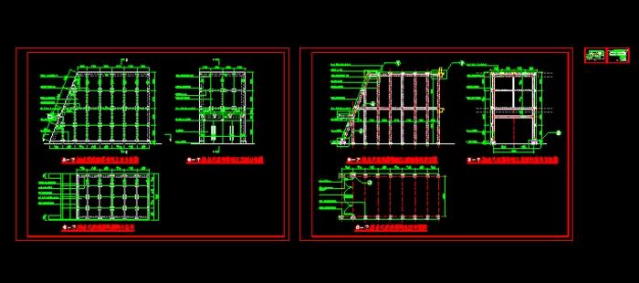 点式玻璃幕墙施工图_cad图纸下载加工面加工符号图纸图片