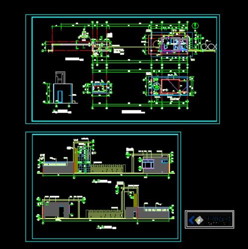 某小区别墅建筑图,包括平面图,立面图,剖面图,很好啊