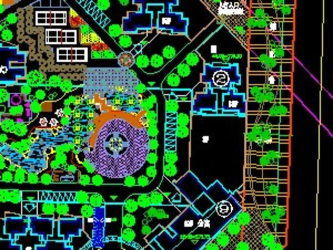小区绿化总平面图