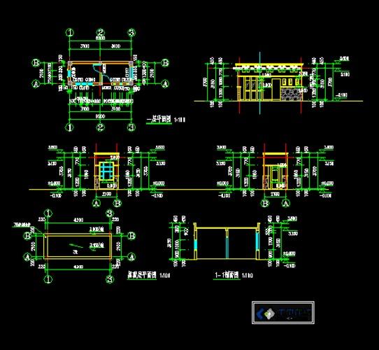现代欧式风格图纸_CO土木在线(原网易土木在门卫非设计板图片