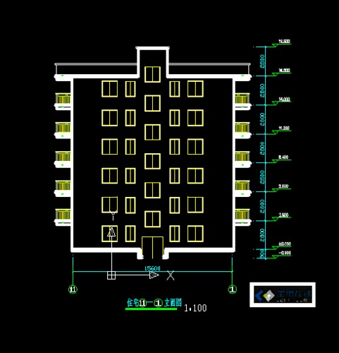 六层住宅楼设计图