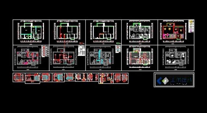 剖面图,以及水电位等完整图纸,三房两厅两卫,大家可以参; 某住宅小区