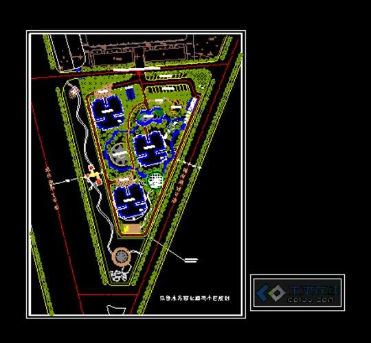 乌鲁木齐市七道湾地矿小区规划鸟瞰图