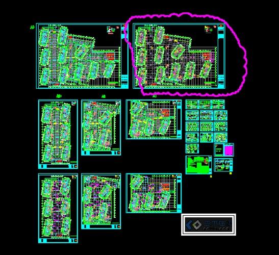 大型社区人防地下室建筑设计图
